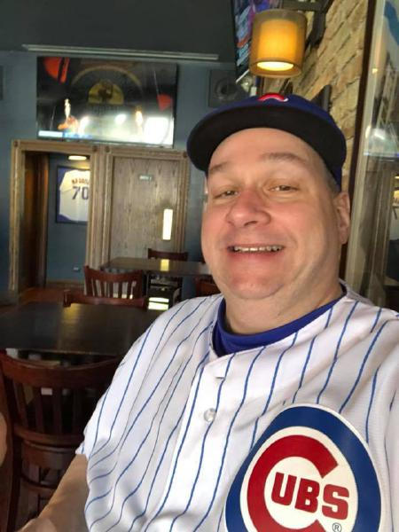 David in one of his favorite Chicago sports team's uniform. Source: David Ginsburg