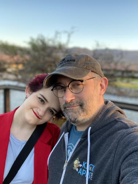 Mike and his daughter. Source: Mike Rose